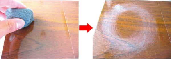 UVコーティングの擦り傷テスト不合格