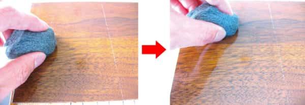 UVコーティングの擦り傷テスト合格品